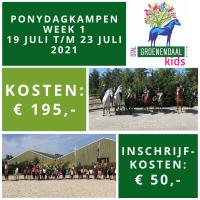 Ponydagkamp Week 1 - 19 juli t/m 23 juli 2021