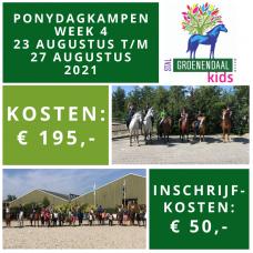 Ponydagkamp Week 4 - 23 augustus t/m 27 augustus 2021