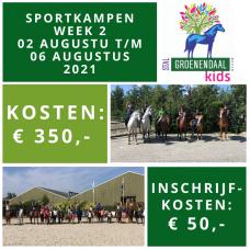 Sportkamp week 2- 02 augustus t/m 06 augustus 2021